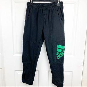 Adidas Boys Black Joggers Sweat Pants